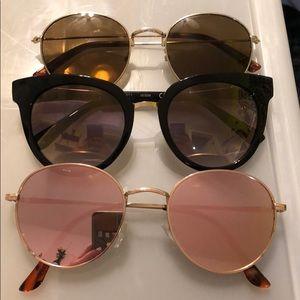 Guess, Madwell, and Pink reflection sunglasses